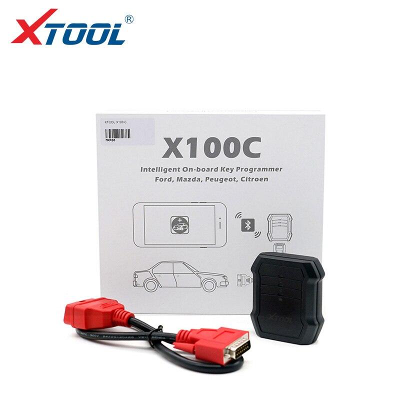 Цена за 2017 Профессиональный X100C Auto Key Программист для Ford/Mazda/Peugeot/Citroen 4 1 pin code reader Xtool X100C для Android IOS
