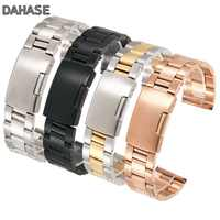 18mm 20mm 22mm 24mm 26mm 28mm 30mm Stainless Steel Watch Band Solid Classic Metal Strap Watchband for Wrist Watch with Pins