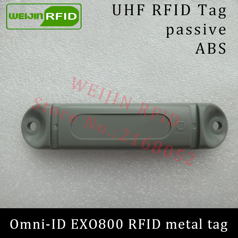 UHF RFID metal tag omni-ID EXO 800 EXO800 915mhz 868mhz Impinj Monza4QT EPCC1G2 6C durable ABS smart card passive RFID tags uhf rfid metal tag 915mhz 868mhz alien higgs3 epcc1g2 6c 53 13 2 8mm fixed assets management pcb smart card passive rfid tags