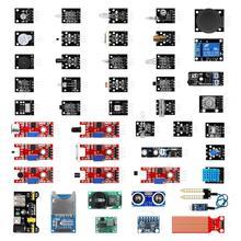 עבור arduino 45 ב 1 חיישני מודולים ערכת המתחילים Arduino טוב יותר מ 37 ב 1 חיישן ערכת UNO R3 MEGA2560 קולי חיישן