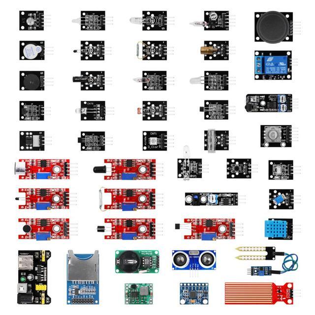 Для arduino 45 в 1 сенсор s модули стартовый набор для Arduino лучше, чем 37 в 1 набор датчиков UNO R3 MEGA2560 ультразвуковой датчик