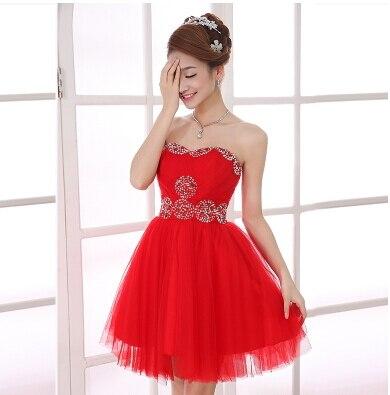 Ladybeauty/; платье для сестер; короткое вечернее платье; топ-труба; короткие дизайнерские вечерние платья на шнуровке; платье для выпускного вечера; - Цвет: Красный