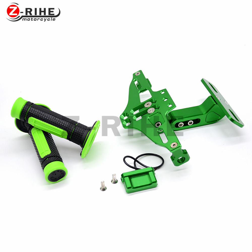 Universal Fender Eliminator License Plate Bracket Ho Tidy Tail and off-road vehicle handle grips for KAWASAKI KX450F KLX450R KLX motorcycle tail tidy fender eliminator registration license plate holder bracket led light for ducati panigale 899 free shipping
