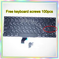 "Brand New For MacBook Pro Retina 13.3"" A1502 Small Enter RS Russian keyboard+100pcs keyboard screws 2013-2015 Years"