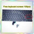 """Nova marca Para MacBook Pro Retina 13.3 """"A1502 Pequeno Digite RS teclado Russo + 100 pcs parafusos do teclado 2013-2015 Anos"""