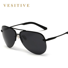VESITIVE Brand Men 100% Polarized Aluminum Alloy Frame Sunglasses Fashion Men's Driving Sunglasses