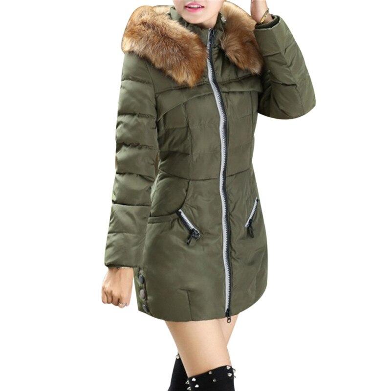 army Manteaux Manteau 4xl Plus Fourrure Chaud Parka Automne Vestes Femmes Réel Noir Capuchon La Coton Et Green D'hiver De 2018 Taille À rouge Col Femme 3xl HZAngwPqR