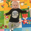 2017 New fashion infant clothing set long-sleeved Letter MAMA'S BOY T-shirt+pants 2pcs/suit newborn toddler baby boy clothes