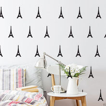 Little Eiffel Tower Decal 56 Pcs Removable DIY Wall Stickers Vinyl Decals for Kids Room Boys Home Decoration Stickers Y-103 цена 2017