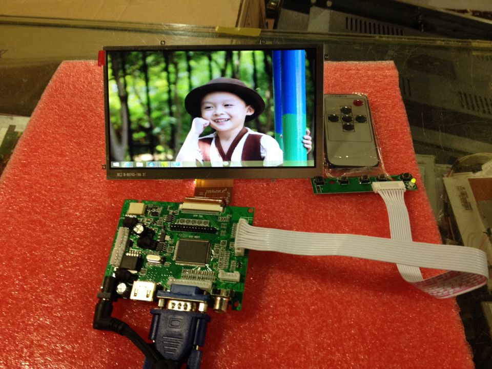 7 inch HD display 7 inch high-definition 50PIN screen driver board a 178 yuan DIY reverse projection