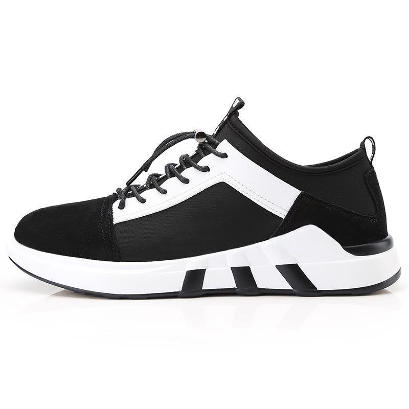 Nova Conforto De Sapatas Preto vermelho Lazer A Placa Aumentar Sapatos Primavera Dos cinza Respirável Tendência Homens Do qFdn4R