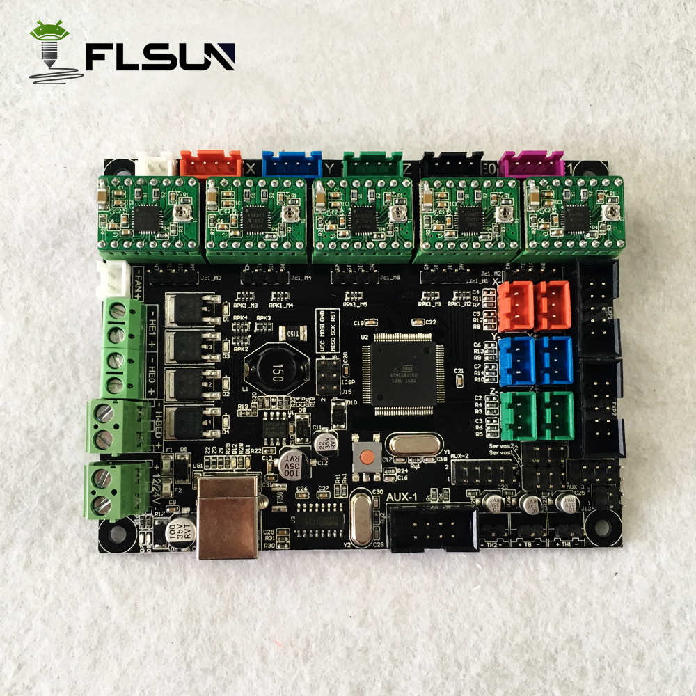 אספקת מפעל לוח Ramps1.4 מדפסת 3d Mega2560 עם מנהלי התקנים עבור Flsun כל מדפסות 5 יחידות
