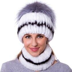 JKP frauen Schal Sets herbst und winter damen hüte natürliche rex kaninchen haar mode hohe qualität handgemachte bib hut set DHY18-30