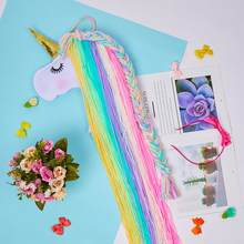 Unicorn Storage Organizer Strip Hair Clips Headwear Organizing Strip Hanger Wall Hair Bows Storage Belt Girl Hair Accessories(China)