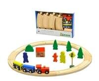 Zabawki dla dzieci Drewniane 25 sztuk Koło Train Set Pojazdu Bloki Zestaw Zabaw Klocki Dla Dzieci Zabawki Edukacyjne Prezent