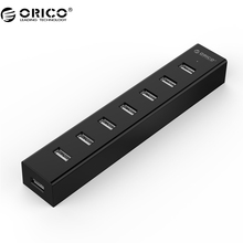 ORICO USB-КОНЦЕНТРАТОР 7 Порта USB 2.0 ХАБ для Windows XP/Vista/7/8/10/Linux/Mac OS (H7013-U2-03)