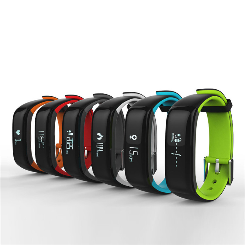 New Arrivals Bluetooth Smart Watches Wristband Bracelet Pedometer Fitness Heart Rate Monitor Free Shipping XP15M05