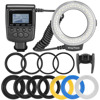 RF 550D 48pcs Macro LED Ring Flash Bundle With 8 Adapter Ring For Canon Nikon Pentax