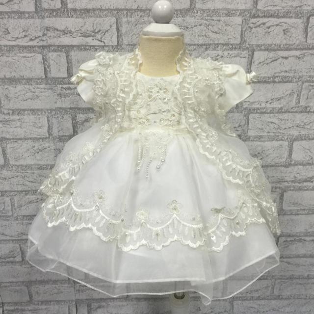 O envio gratuito de alta qualidade 2015 nova infantil dress organza bordado dress batismo dress para 1 anos meninas do bebê recém-nascido 1775a