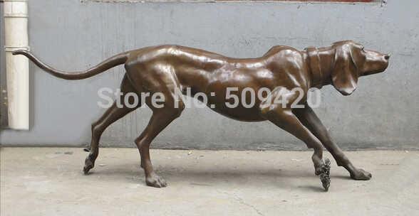 "ZSR Shipping60 מהיר ""מערבי אמנות פסל sighthound גרייהאונד איטלקי כלב פסל ברונזה טהור"