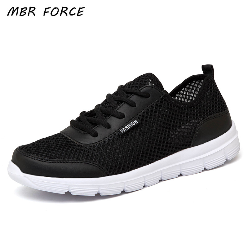 Men Shoes 2018 Summer Sneakers Breathable Casual Shoes Fashion Comfortable Lace up Men Sneakers Mesh Flats Shoes Plus Size 38-48 men casual shoes lace up mesh men outdoor comfortable shoes patchwork flat with breathable mountain shoes 259