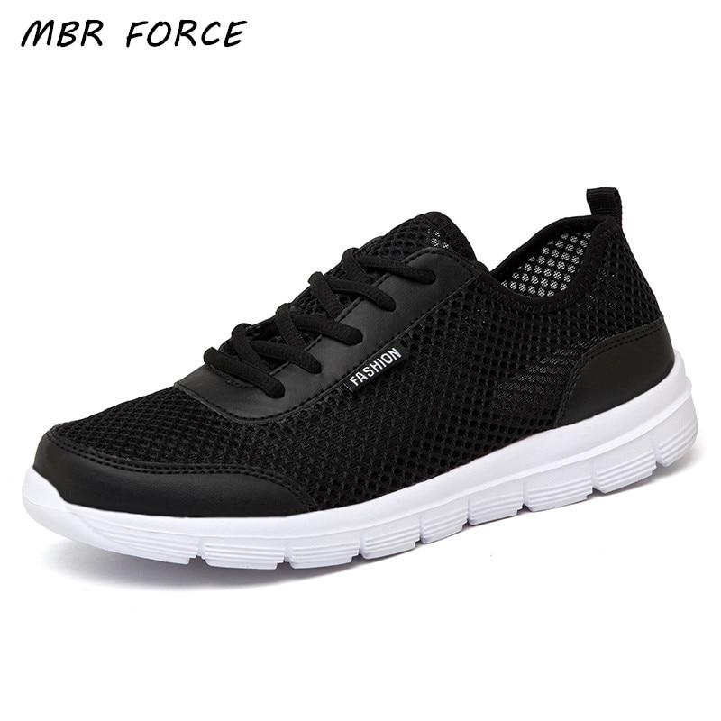 Men Shoes 2018 Summer Sneakers Breathable Casual Shoes Fashion Comfortable Lace up Men Sneakers Mesh Flats Shoes Plus Size 38-48