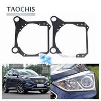TAOCHIS Auto Adapter Frame Head Light For Hyundai Santa Fe New SantaFe 2017 Hella 3R G5