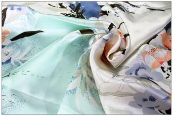 Tela de seda prenda de satén de seda funda de edredón funda de almohada tela azul calidez 16mm