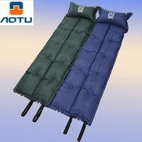 AOTU Eight Fold Mattress Inflatable Camping Hiking Outdoor Inflatable Stitching Sleeping Bag Mat Fast Filling Air