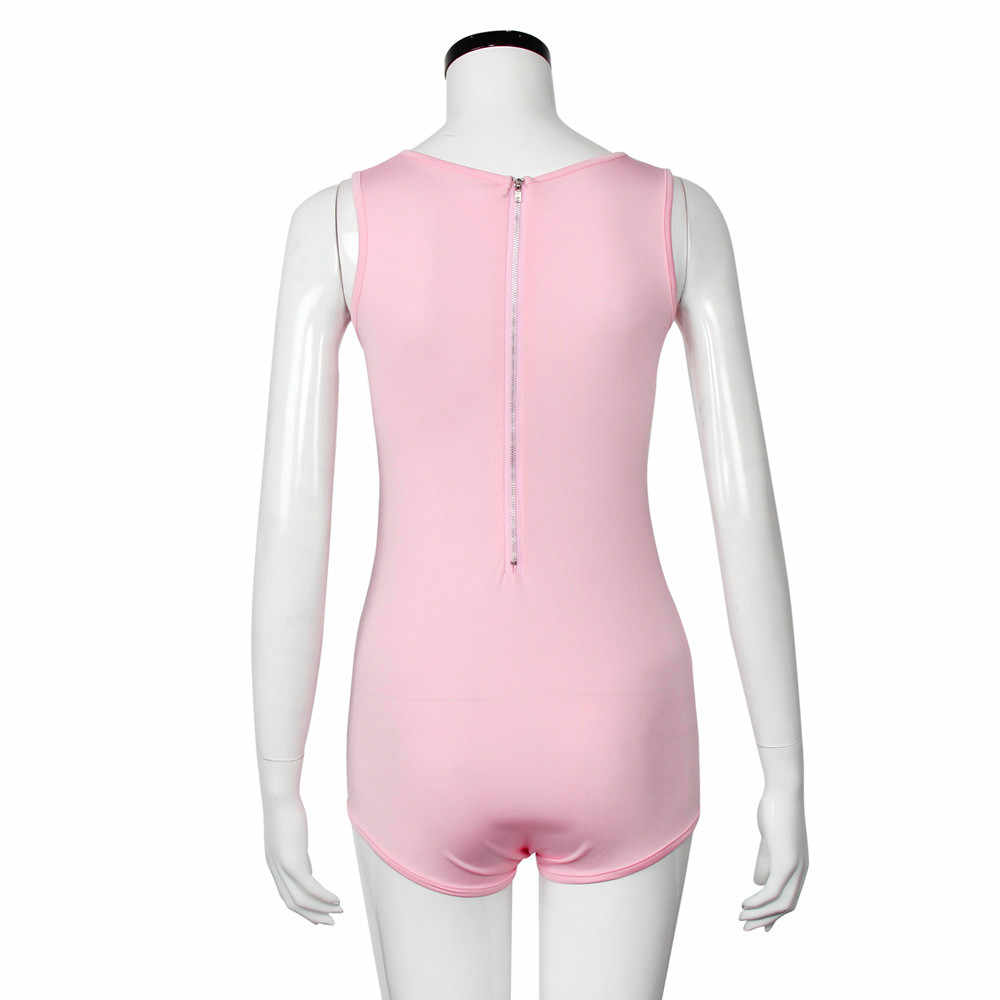 Maillots de bain femmes Sexy rose lettre une pièce maillot de bain femmes été 2019 Sexy Sport maillot de bain maillot de bain pour les femmes Stroj Kapielowy