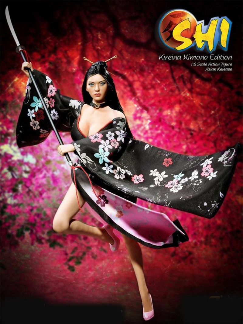 Mnotht Phicen 1/6 Scale 12 SHI in Kimono Female Collector Action Figure US Version /Asian Version With Head And Clothes l30 female head teachers administrative challenges in schools in kenya