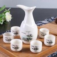 White set ceramic glass pot liquor cup Yellow Wine small jiuzhong wine beautiful men gift