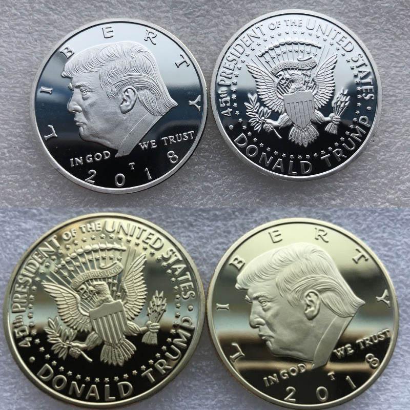 Вызов Статуя Свободы Дональд Трамп президент памятной первого Silver EAGLE Новинка для монет