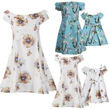 Summer Mother And Daughter Floral Dress Family Matching Outfits