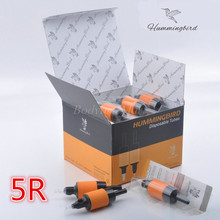 Box Of 20PCS 5R HUMMINGBIRD Disposable Grip Tube Round 5 Sterilized Tattoo Grip Tube R5 Supply HDG25-5R#