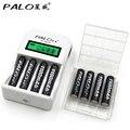 Palo c907w com 8 * aaa 1100 mah baterias universal display lcd carregador de bateria inteligente para aa/aaa bateria recarregável baterias