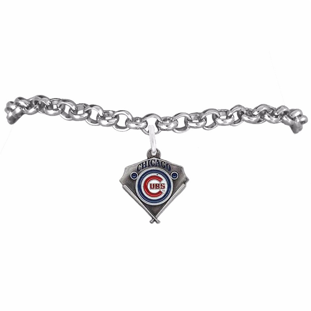 Fashion New Por Enamel Color Finish Chicago Cubs Logo Charm Men Sports Bracelet In Bracelets From Jewelry Accessories On Aliexpress