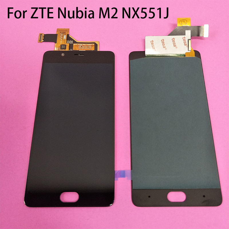 Black White Amoled LCD Screen LCD Display Touch Screen Digitizer Assembly For ZTE Nubia M2 NX551J