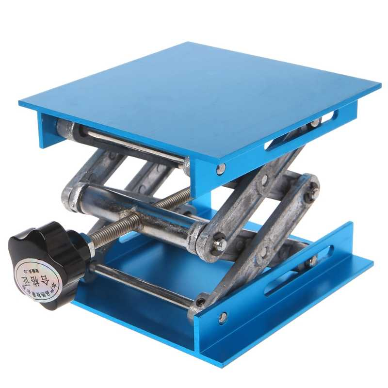 "Hot Koop 4 ""x 4"" Aluminium Router Lift Tafel Houtbewerking Graveren Lab Lifting Stand Rack"