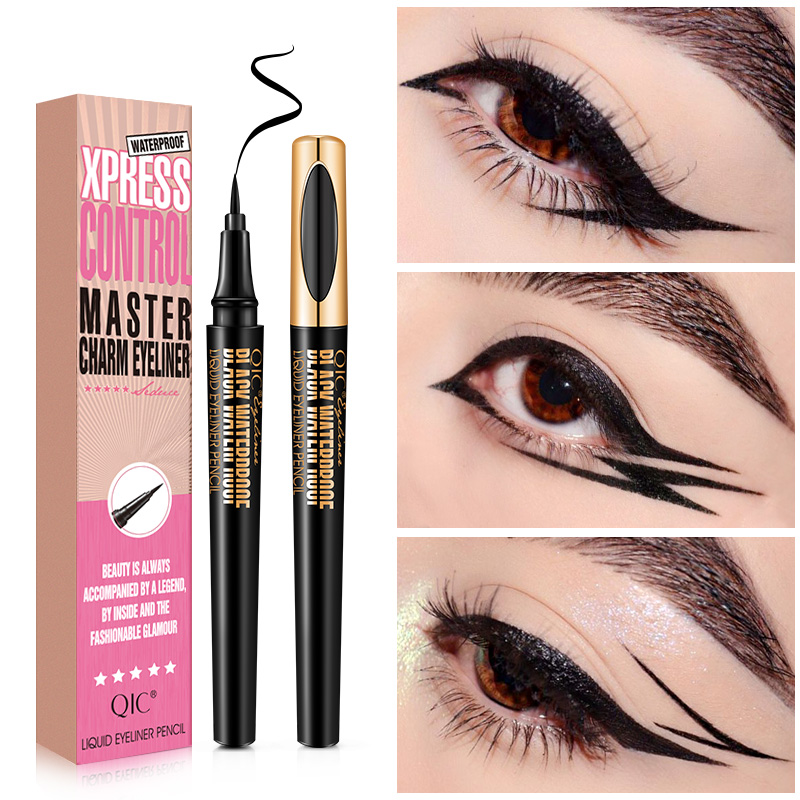 Makeup Eyeliner Pencil Waterproof Sharpen Cool Liquid Eye Liner Eyes Professional Eyeliners Pen Big Eye Maquiagem Cosmetics Tool image