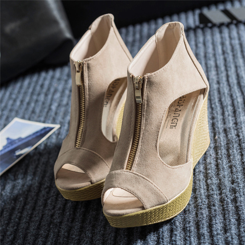 Women Shoes Summer Sandals Casual Peep Toe Platform Wedges Sandals Shoes phyanic 2017 gladiator sandals gold silver shoes woman summer platform wedges glitters creepers casual women shoes phy3323