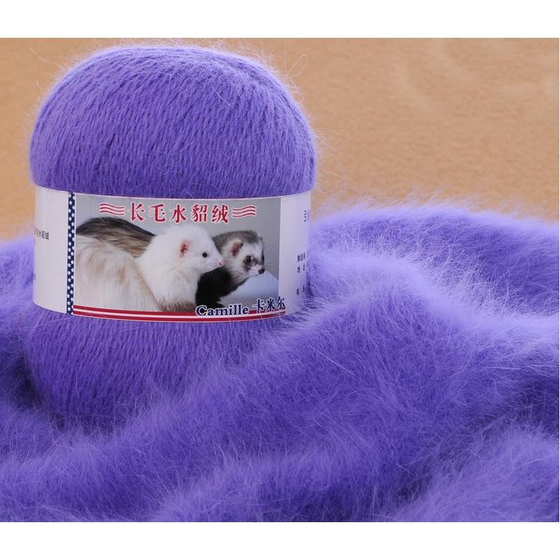 100 g / 2 bal nerts breigaren luxe bont harige kasjmier garen voor hand kintting marifetli baby warm zacht weefsel laine een tricoter