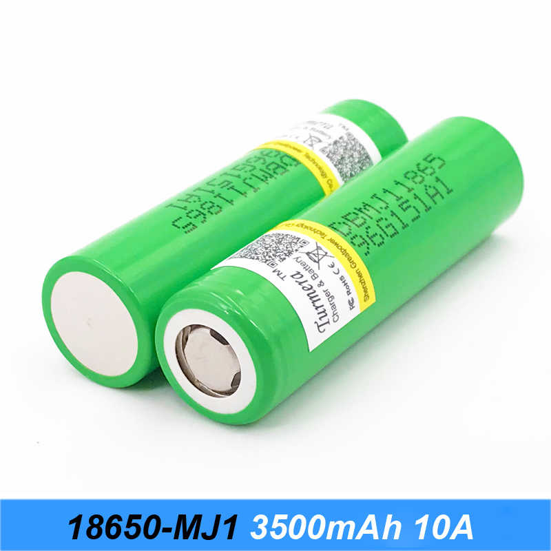 18650 battery 3500mah mj1 for electric bike battery 48v 15ah 20ah and lithium flashlight batteries 10a for Turmera 18650 o24