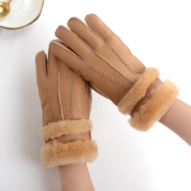 Struggle-Dream fur gloves finger ladies autumn and winter warm fashion gloves sheepskin wool