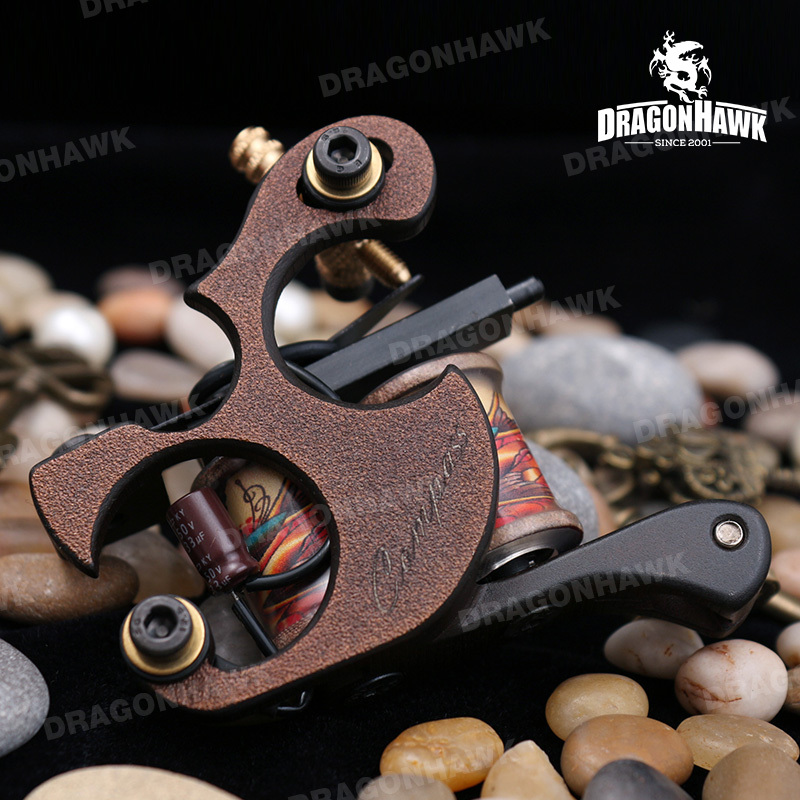 Newest Compass Tattoo Machine Shader Steel Frame Copper Coils TOP MAGELLAN SERIES C003-L adel hejaaji agile manufacturing