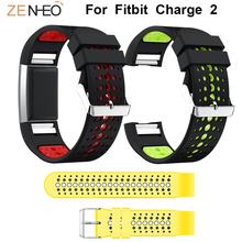 цены Sport Double colors Silicone watch band For Fitbit Charge 2 Watchband Replacement For Fitbit Charge 2 bracelet belt Wrist Straps