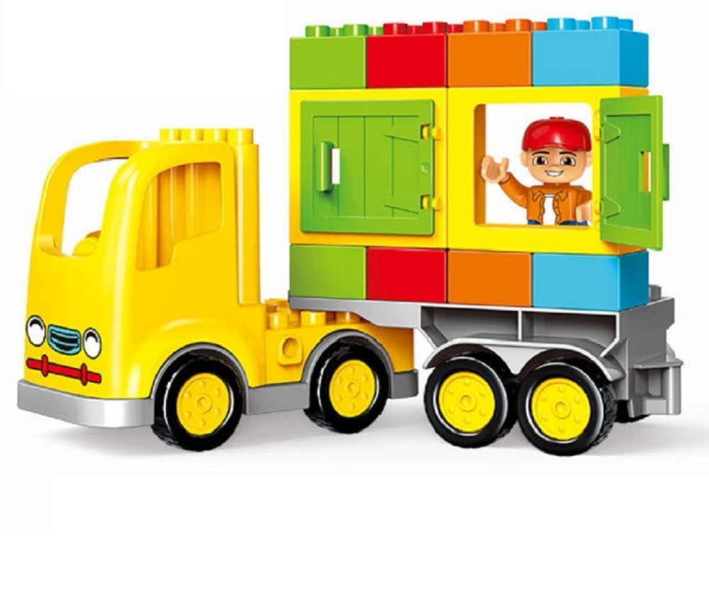 23 pcs  TrunK series Big Building Blocks  Enlightenment Compatible legoings Duplo toys for children over 3 years ABS plastic