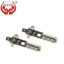 цена на KEIN 50PCS H1 LED Fog light 13smd 5050 led h1 lamp car auto DRL Daytime Running External bulbs Vehicle 12V for Toyota Nissan Kia