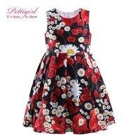 Pettigirl Lastest Kids Summer Flower Dress For Infant Girls Print Red Dress Kids Costumes GD81004-41Z