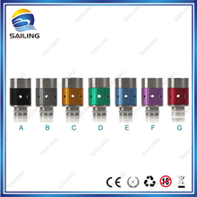 Sailing authentic electronic cigarette SS aluminum drip tips adjustable airflow for vape 510 tank atomizer 10PCS wholesale